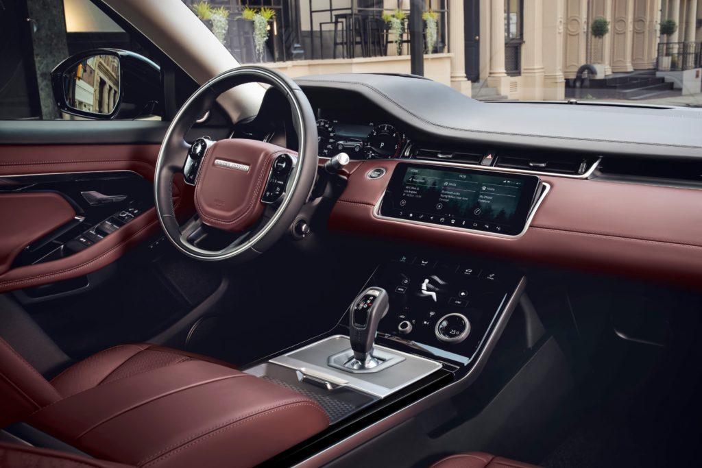 The interior of the new Range Rover Evoque