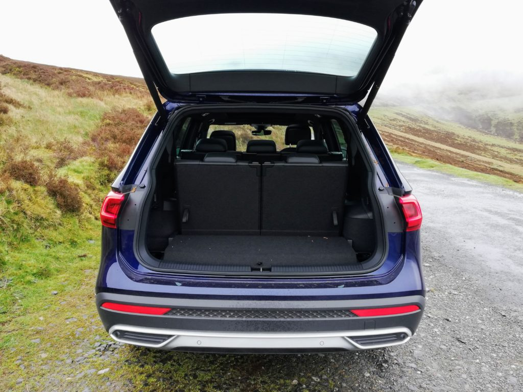 Boot space in the SEAT Tarraco when the seven seats are in place