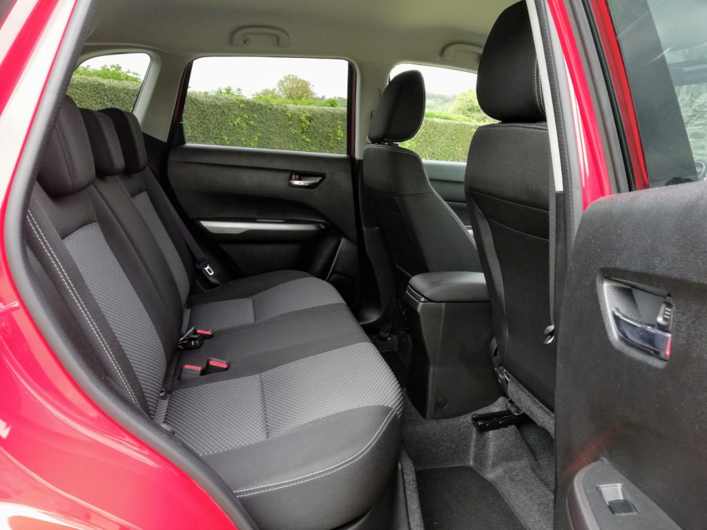 Rear seating in the Suzuki Vitara