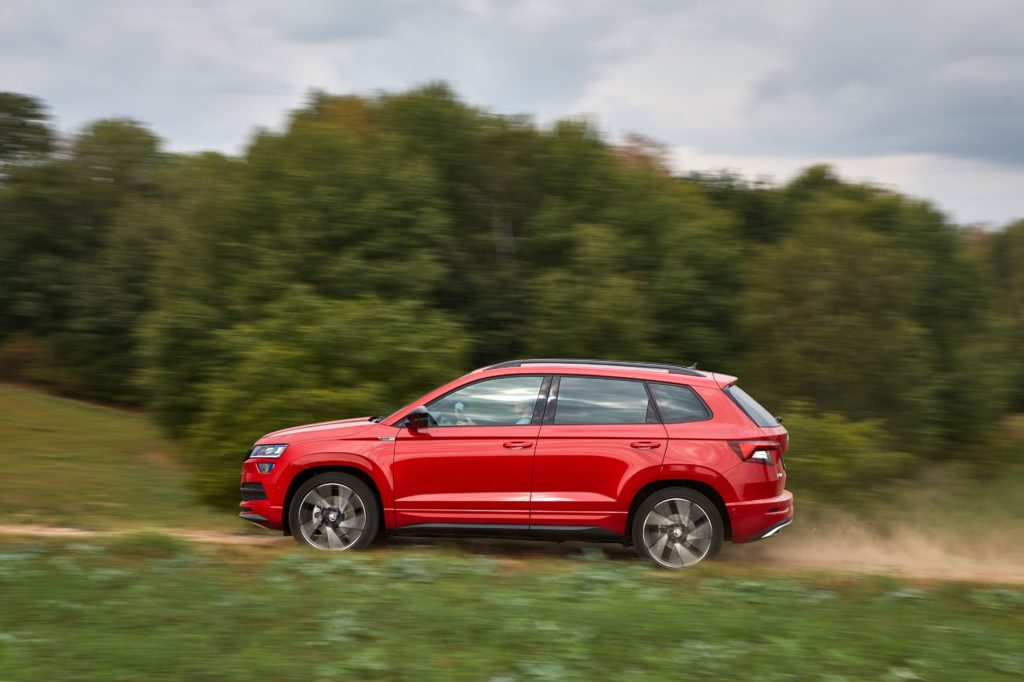The Skoda Karoq Sportline starts from €34,100