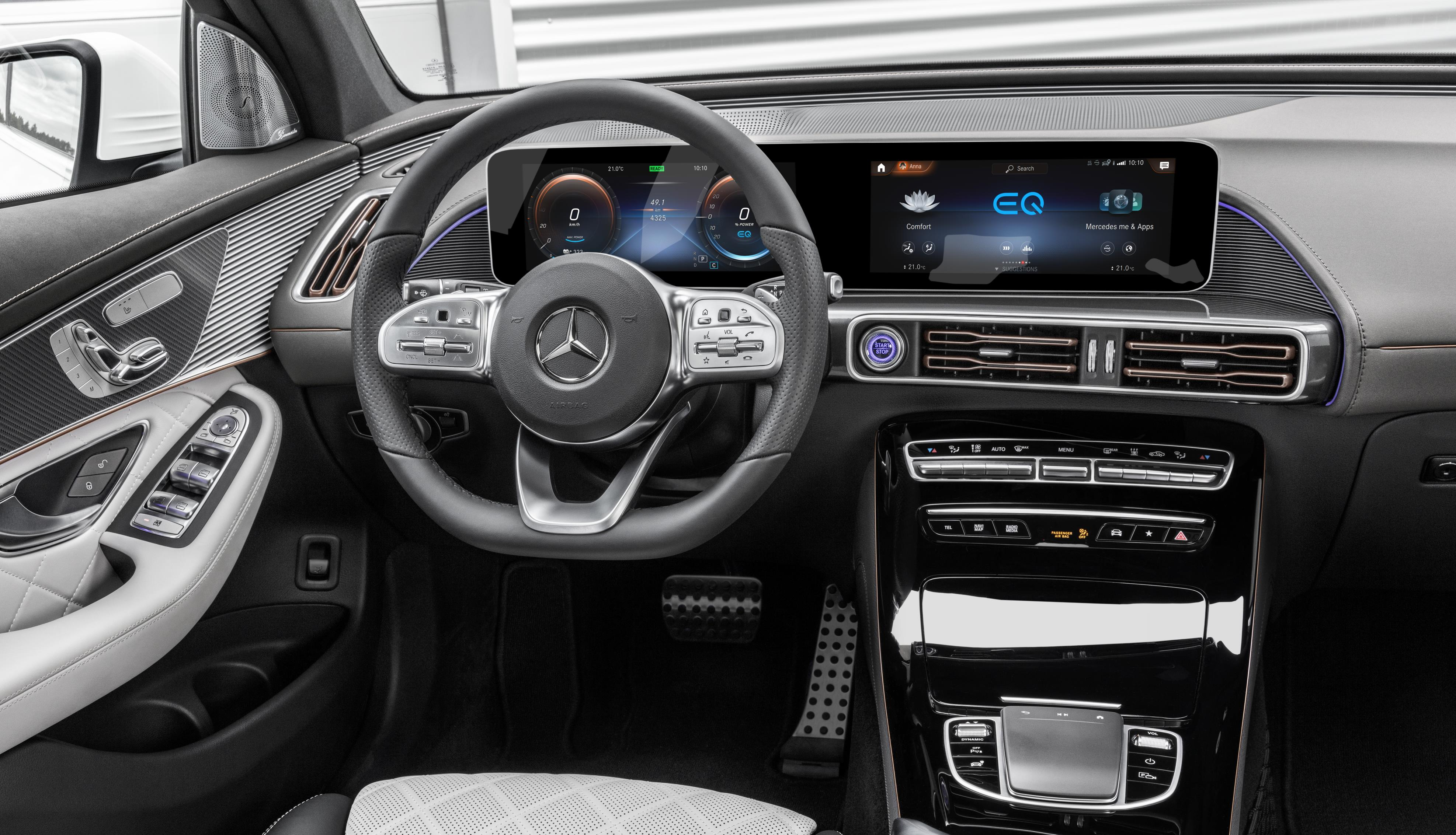 The interior of the new Mercedes-Benz EQC