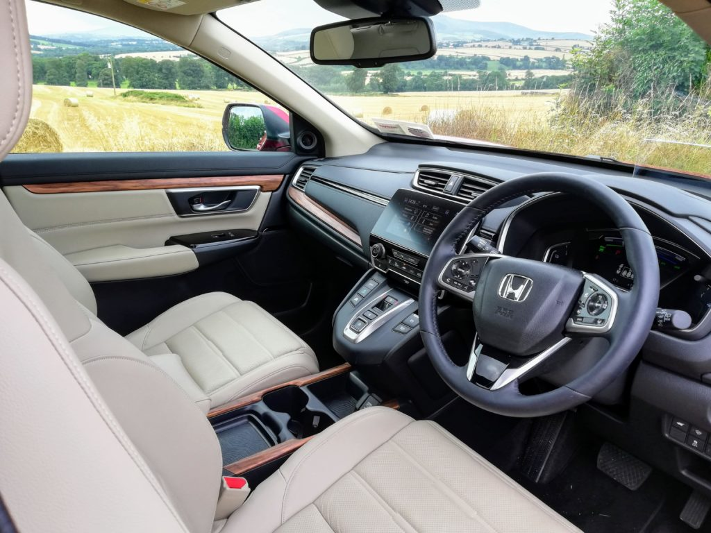 The interior of the new Honda CR-V Hybrid