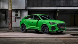 The new Audi RS Q3 Sportback in Kyalami green