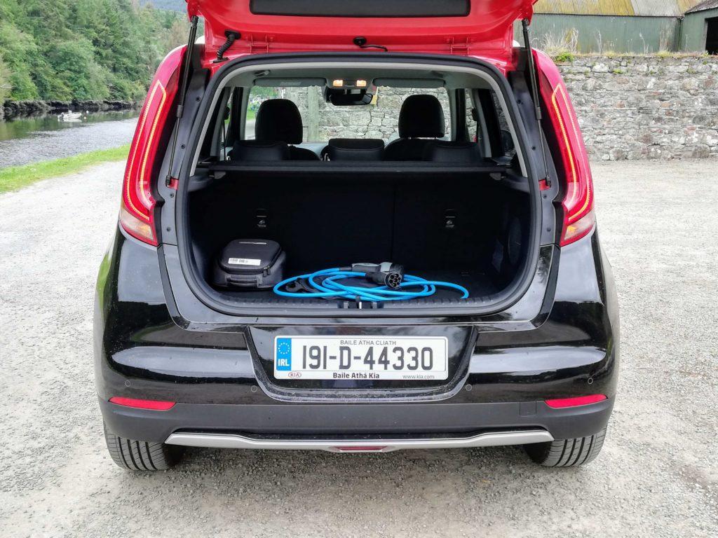 Boot space in the Kia e-Soul