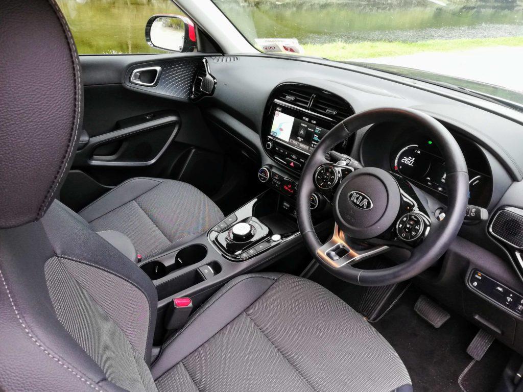 The interior of the new Kia e-Soul