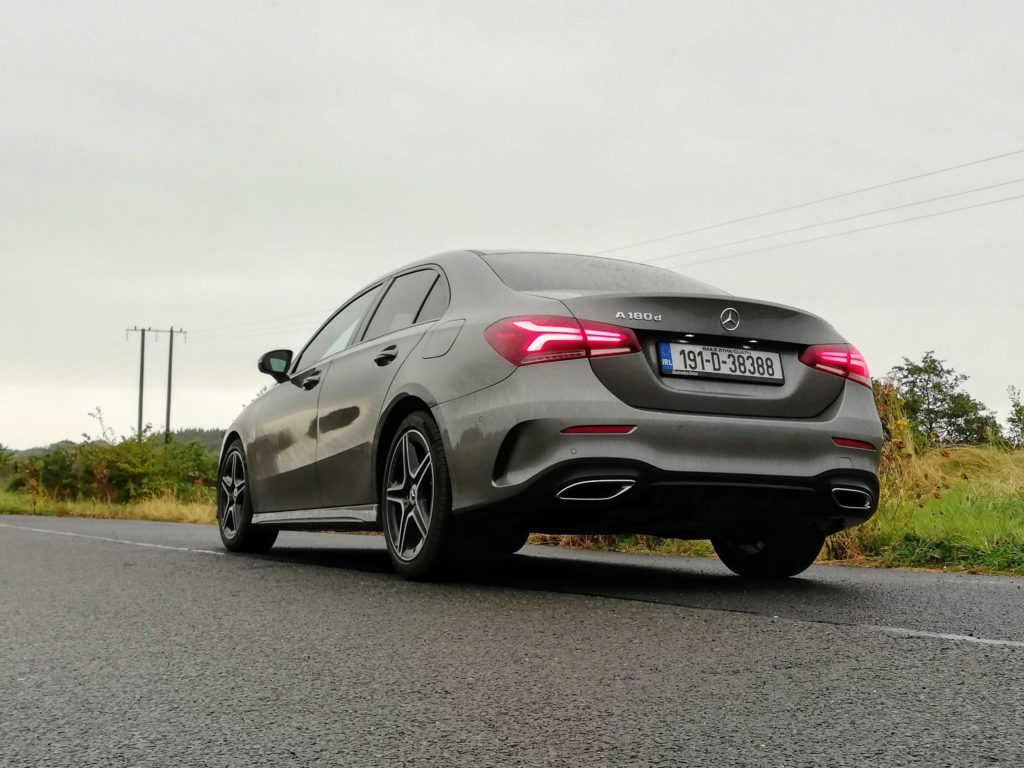 The new A-Class Saloon is priced from €31,445