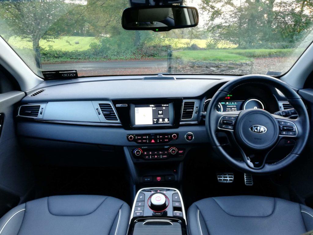 The interior of the new Kia e-Niro