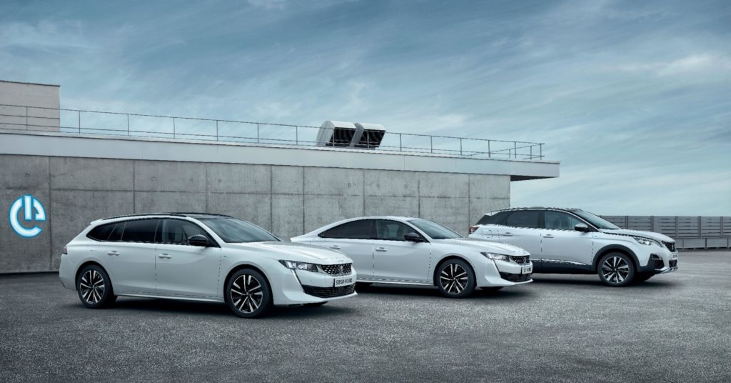 The new Peugeot plug-in hybrid range, available in Ireland from 2020