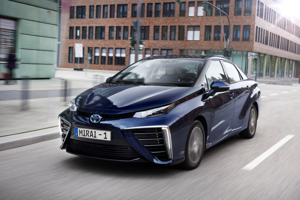 Hydrogen fuel cell cars like the Toyota Mirai could be on Irish roads by 2023