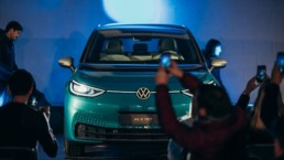 The new Volkswagen ID.3 revealed at an event at Weston Airport, Dublin