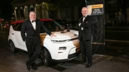 Tom Dennigan presents the Continental Tyres Irish Car of the Year 2020 Award to Ronan Flood, MD of Kia Motors Ireland