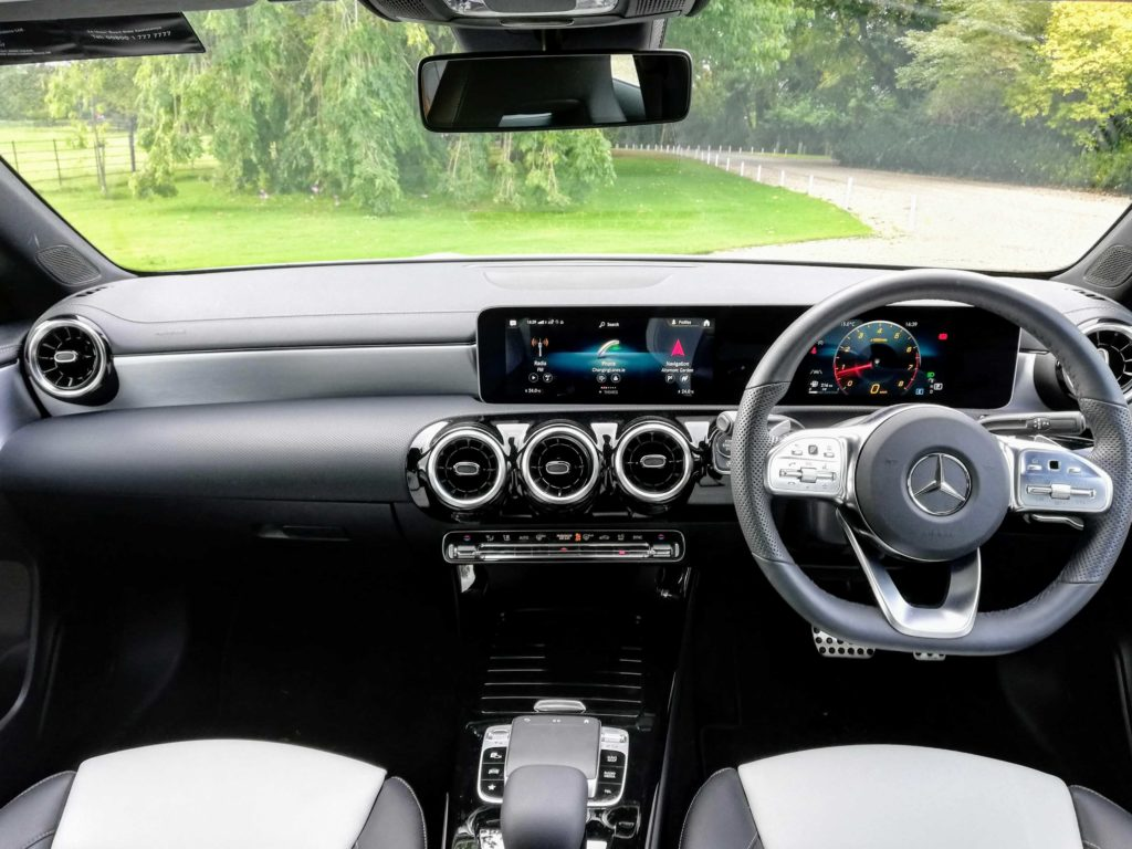The interior of the new CLA
