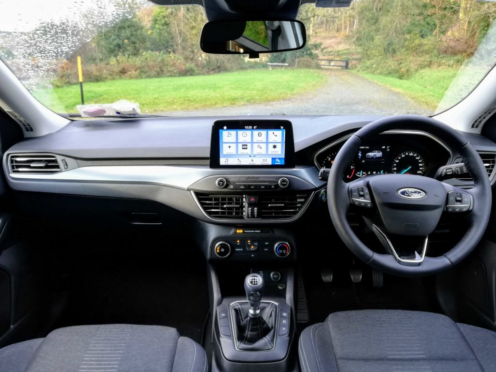 The interior of the new Ford Focus Active