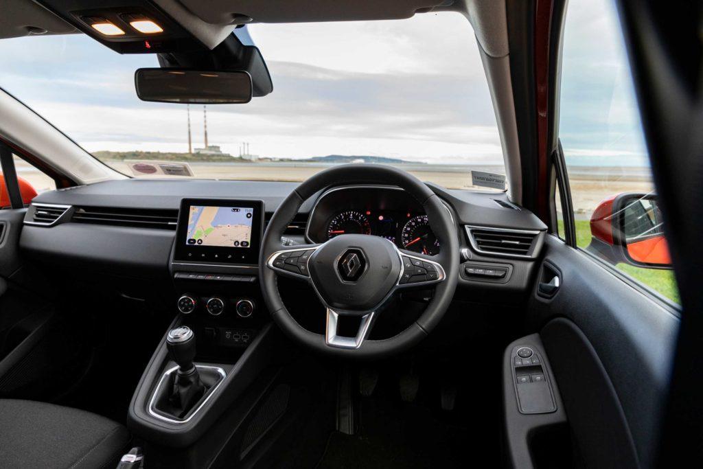 The interior of the new Clio