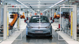 The new Volkswagen ID.3 on the production line at Zwickau