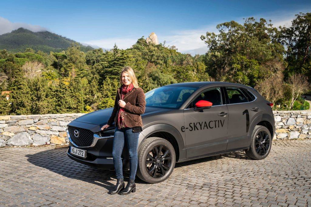 Caroline and the Mazda CX-30 EV Prototype