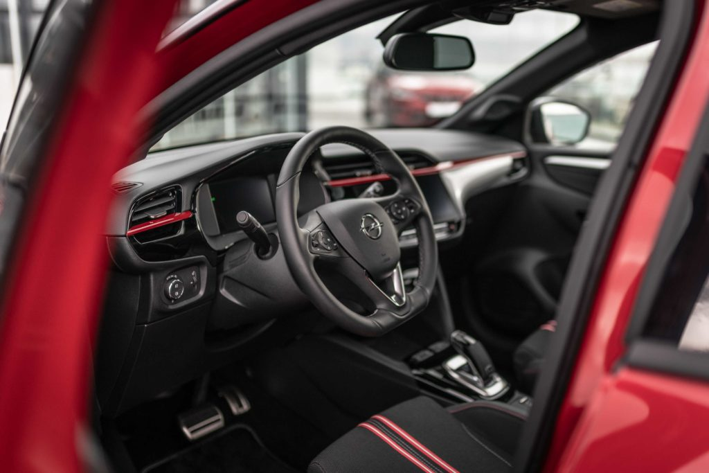 The interior of the new Corsa