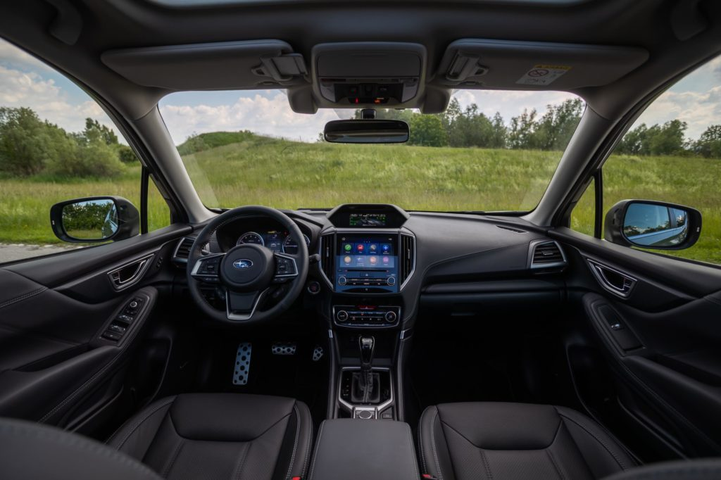 The interior of the new Subaru Forester e-BOXER
