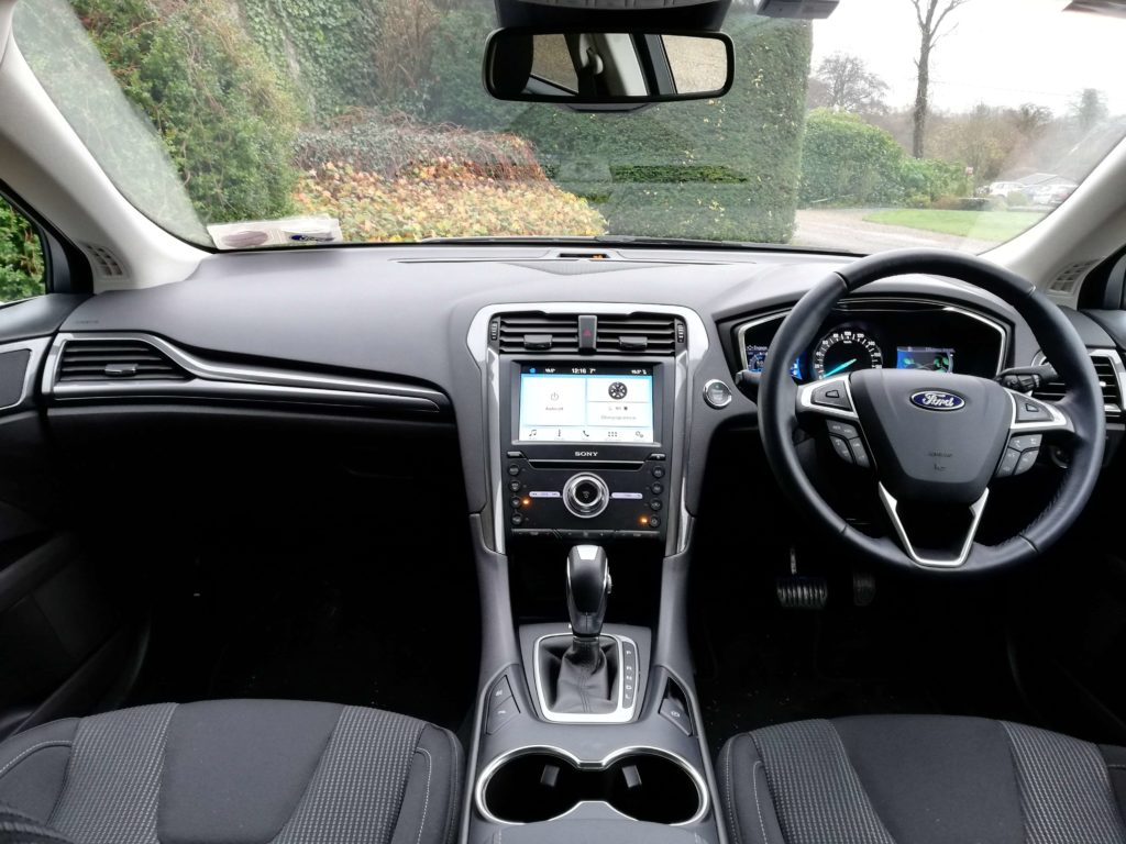 The interior of the Ford Mondeo Hybrid Estate