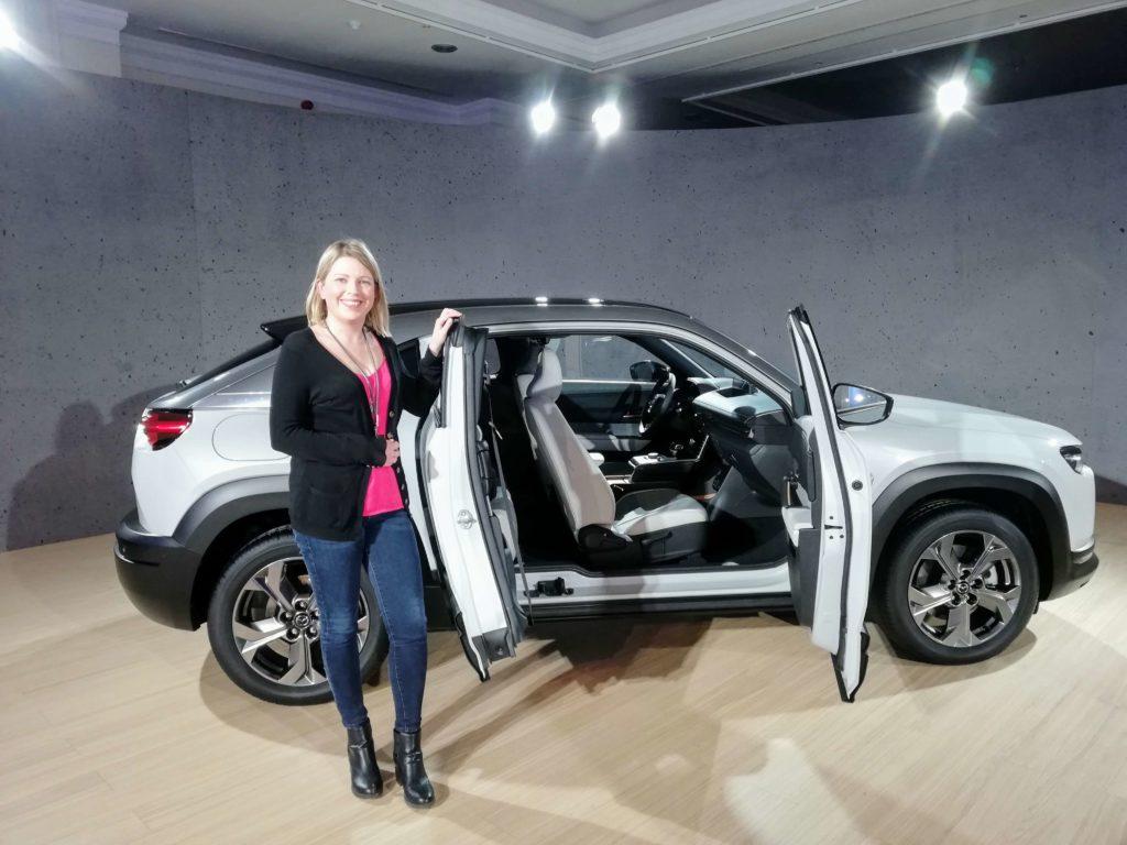 Caroline and the new Mazda MX-30
