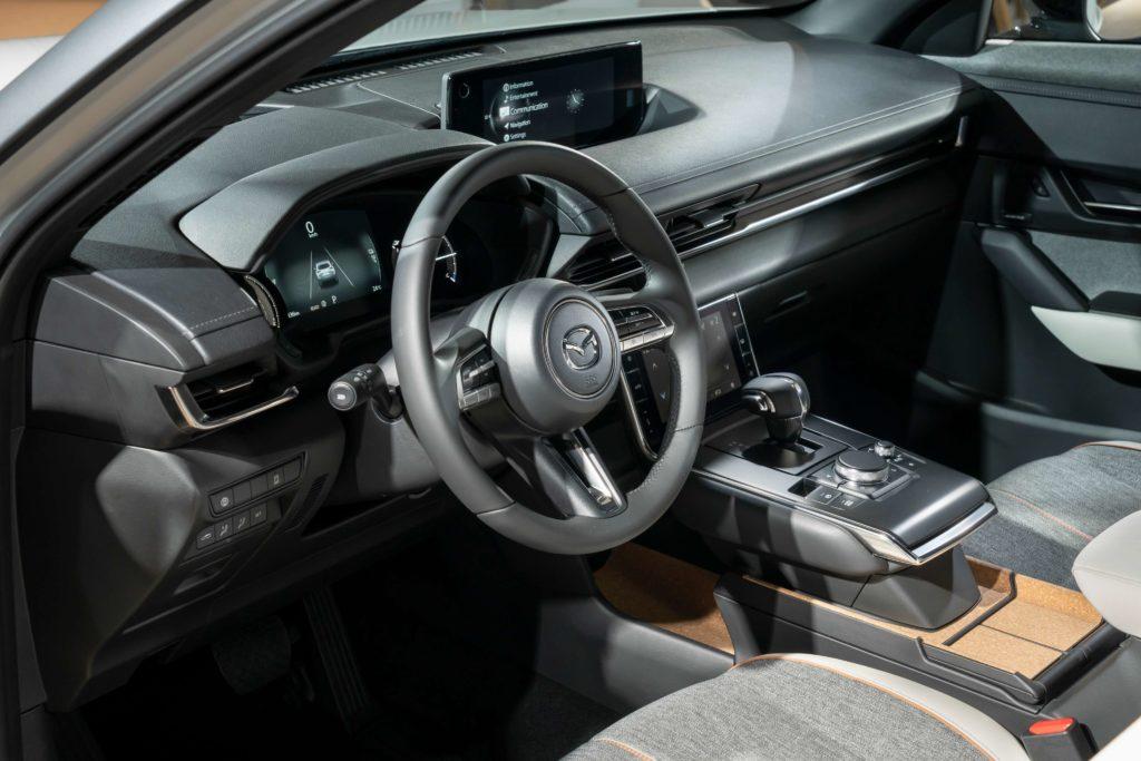 The interior of the new Mazda MX-30