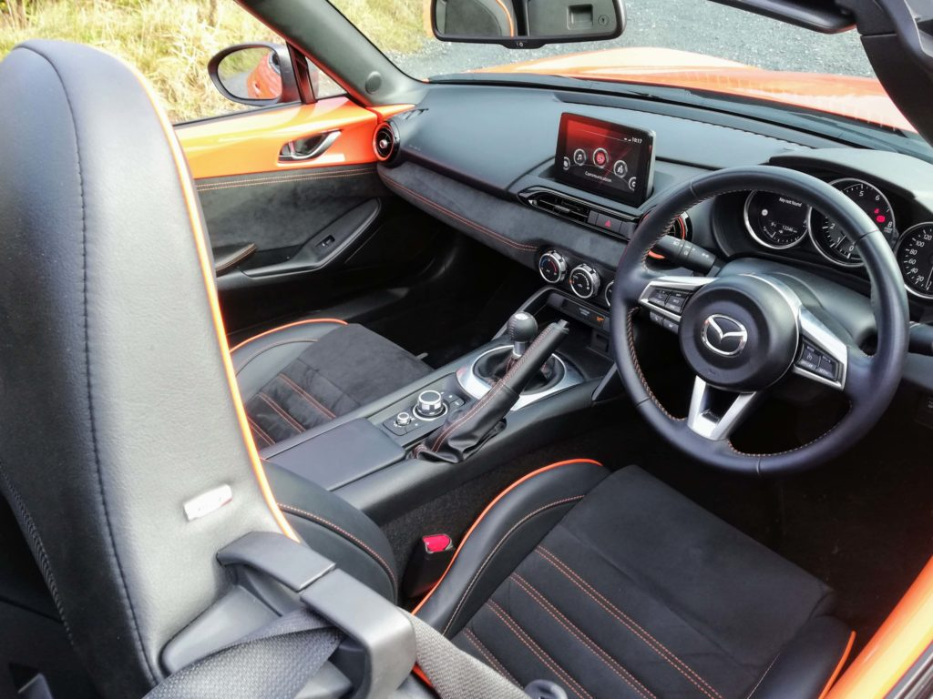 The interior of the MX-5 30th Anniversary