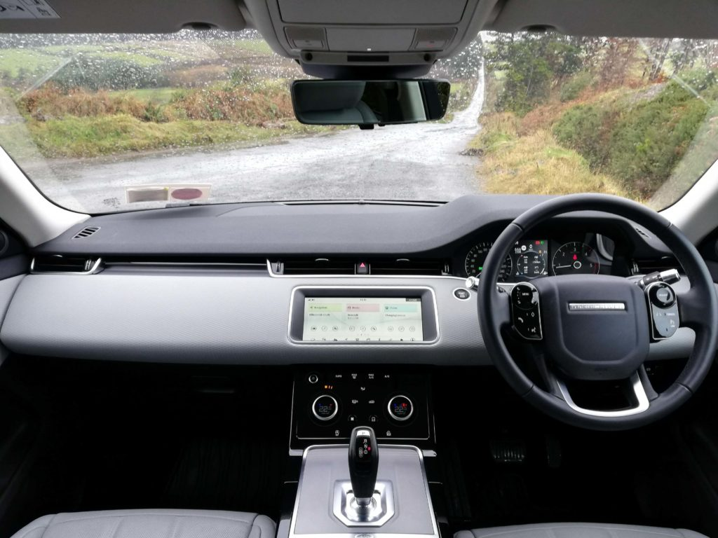 The interior of the new Evoque