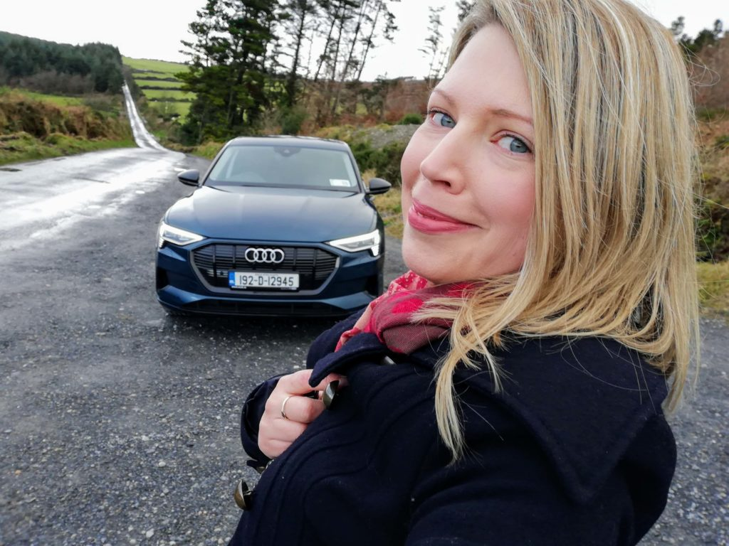 Caroline Kidd and the Audi e-tron