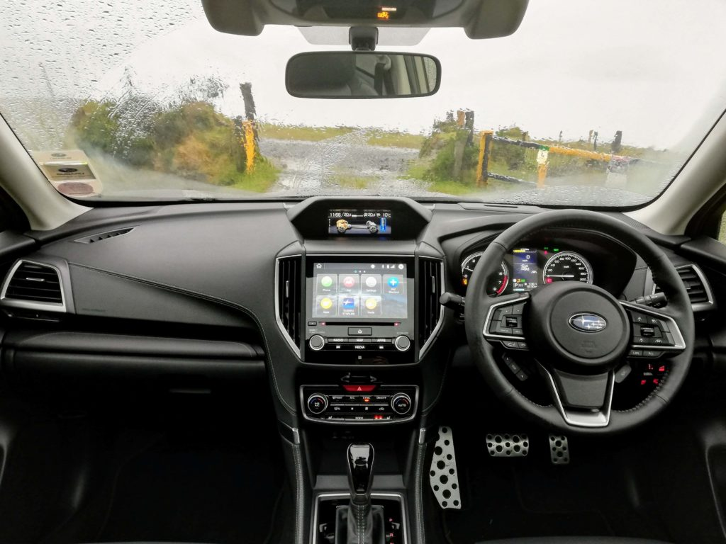 The interior of the 2020 Subaru Forester