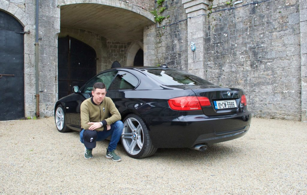 Eugene Devereux, founder of Irish Boostrapper, and his BMW 3 Series Coupe