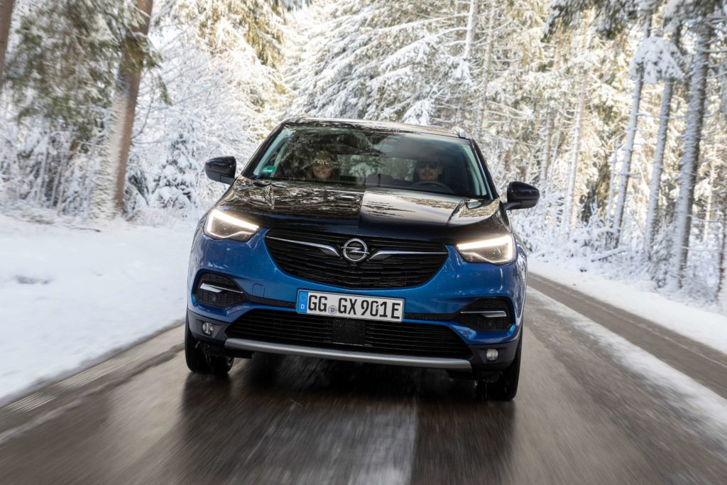 Opel Grandland X Hybrid4 has all wheel drive for extra reassurance in challenging road conditions