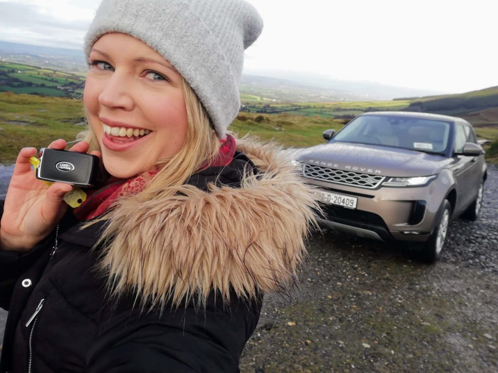 Caroline and the new Range Rover Evoque