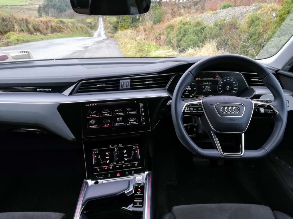 The interior of the new Audi e-tron