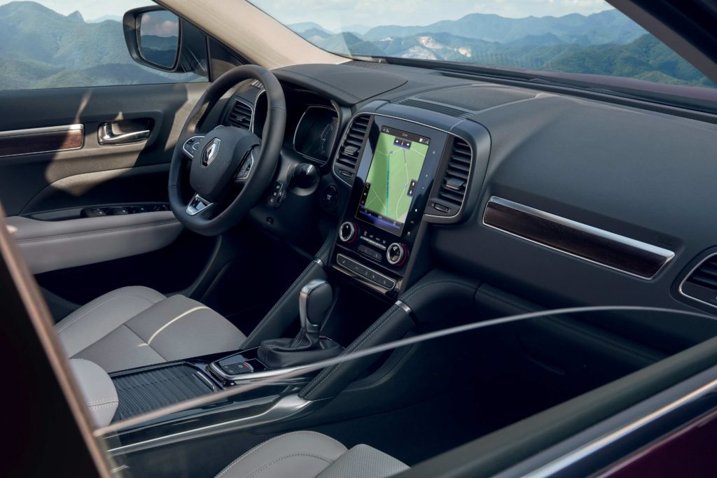 The interior of the updated 2020 Renault Koleos