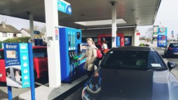 Caroline filling up with new Inver Xtra advanced fuel!