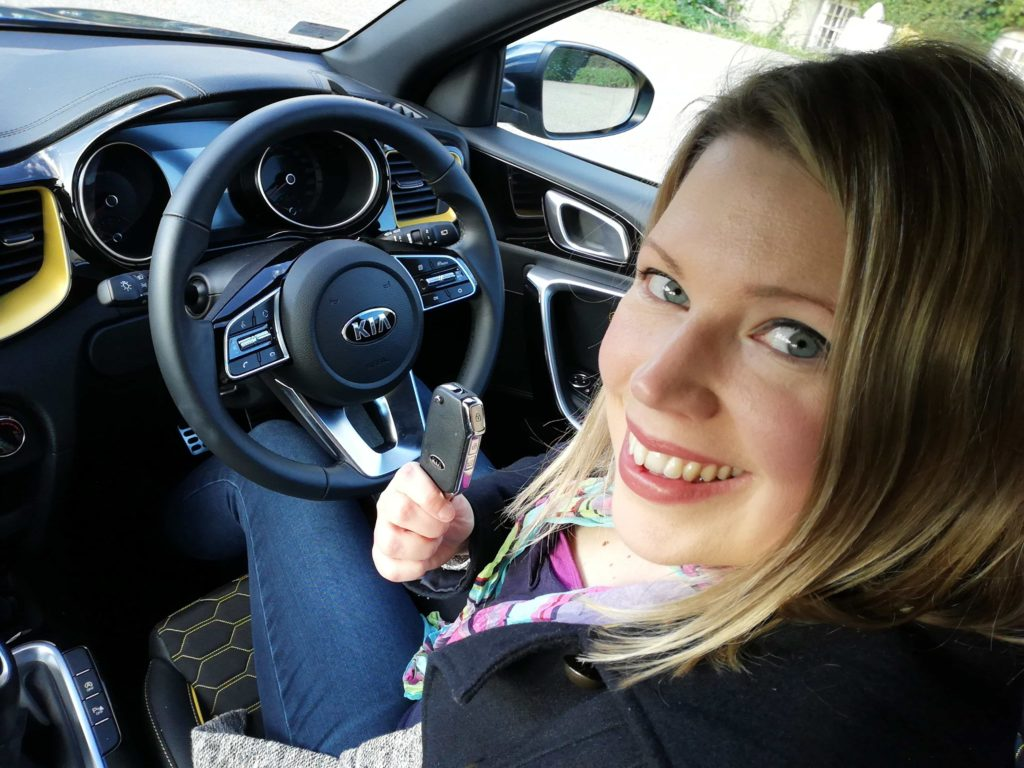 Caroline in the cabin of the Kia XCeed