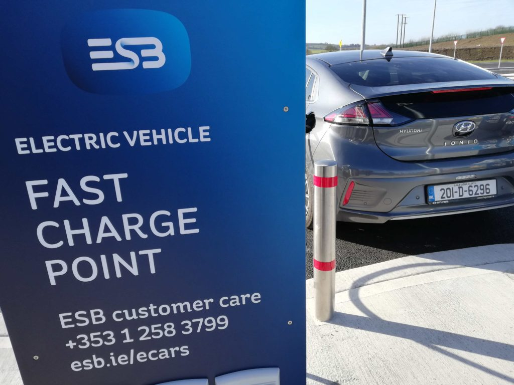 50 kW charging of the Hyundai IONIQ Electric on the ESB e-cars network