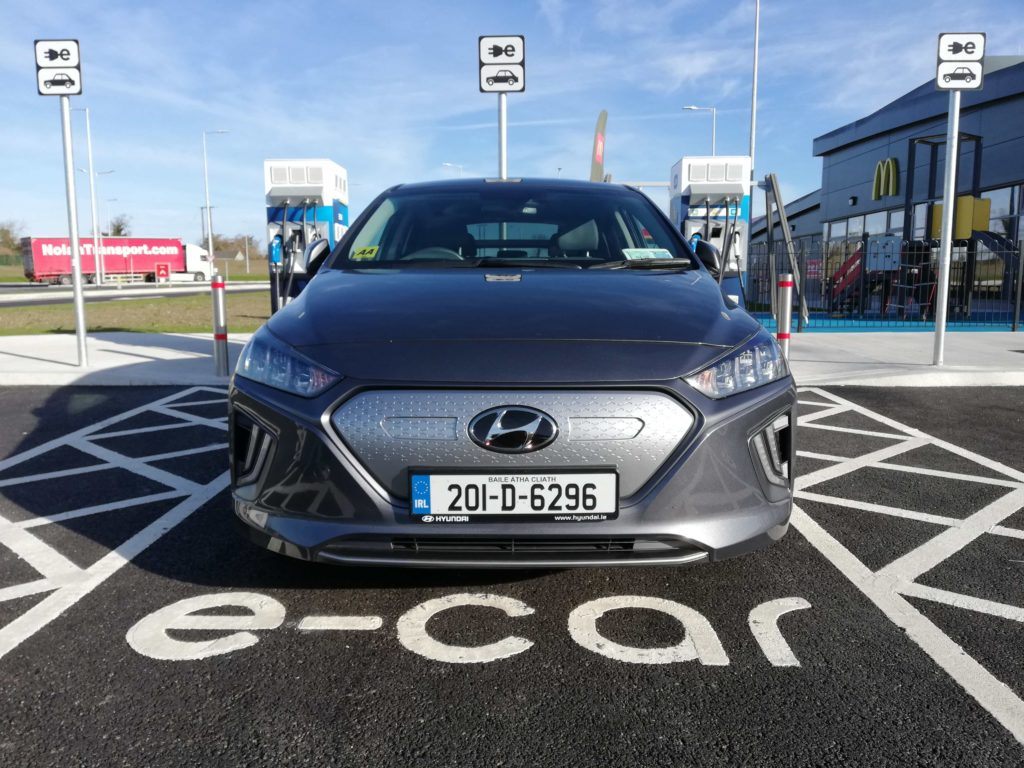 The 2020 Hyundai IONIQ Electric on test for Changing Lanes