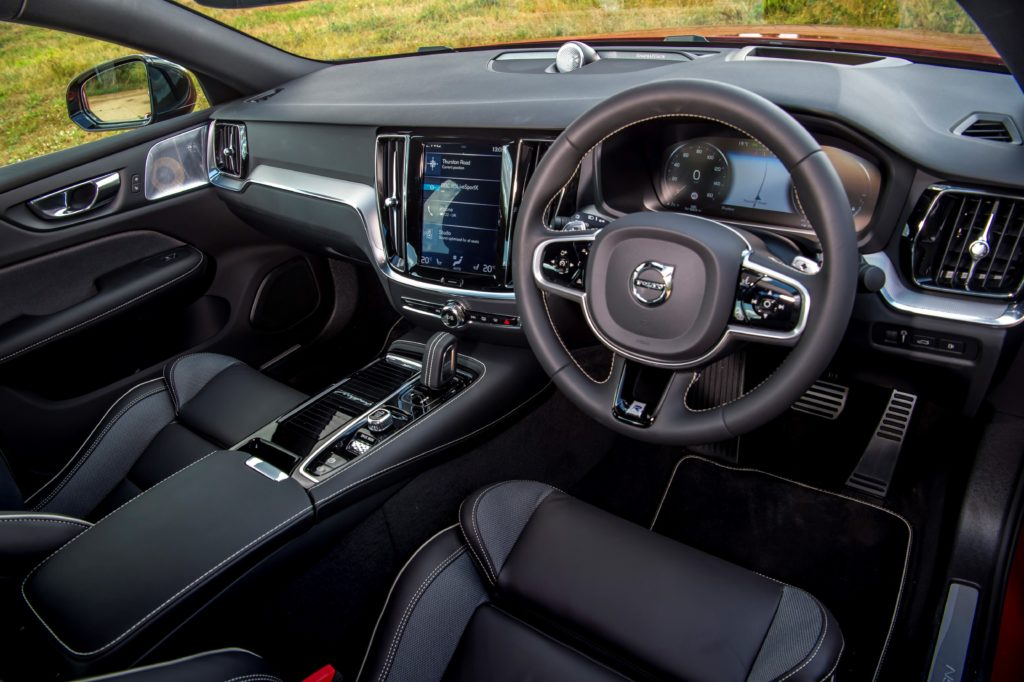 The interior of the new Volvo S60