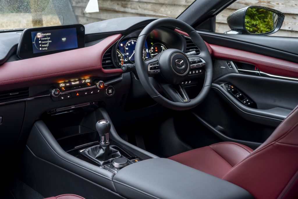 The interior of the new Mazda3