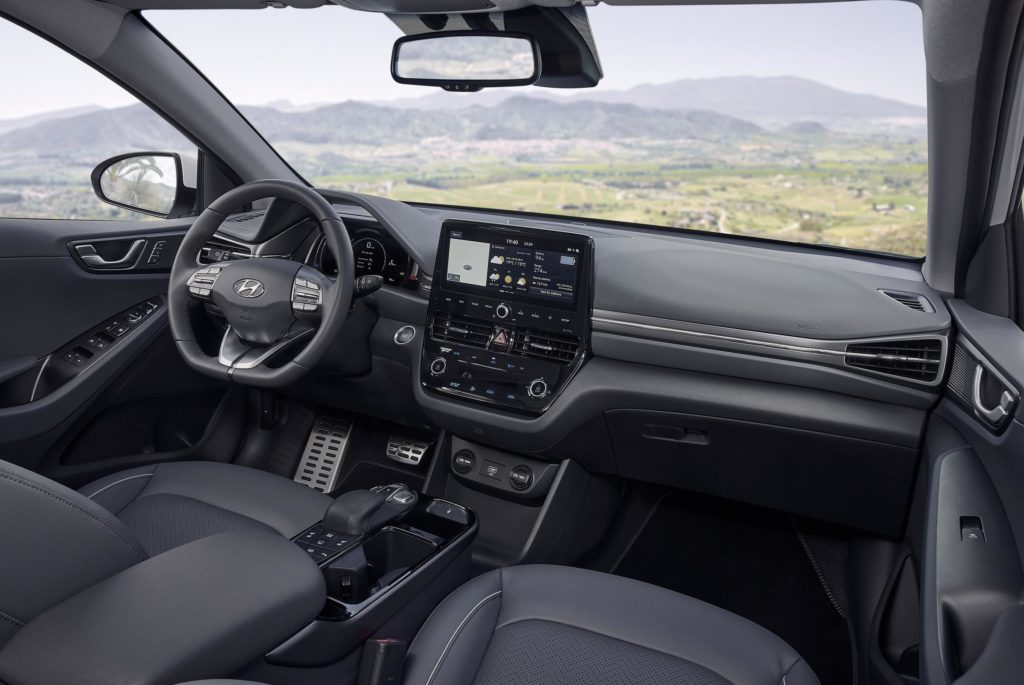 The IONIQ interior has been revamped for 2020