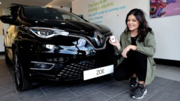 Doireann Garrihy, broadcaster and Renault brand ambassador, and the new Renault ZOE