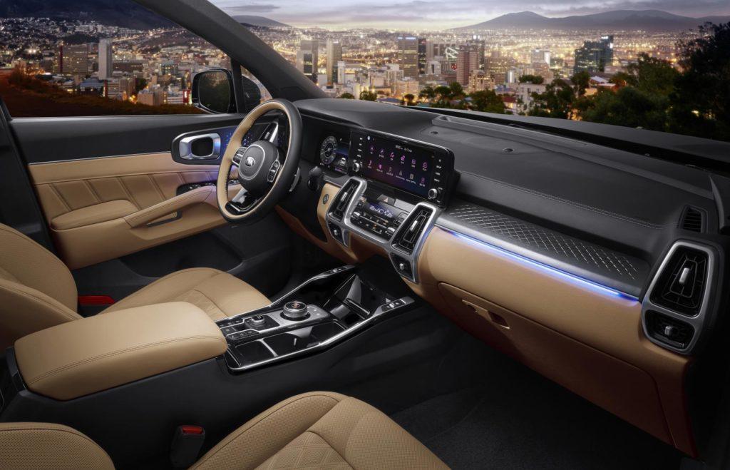 The interior of the 2020 Kia Sorento