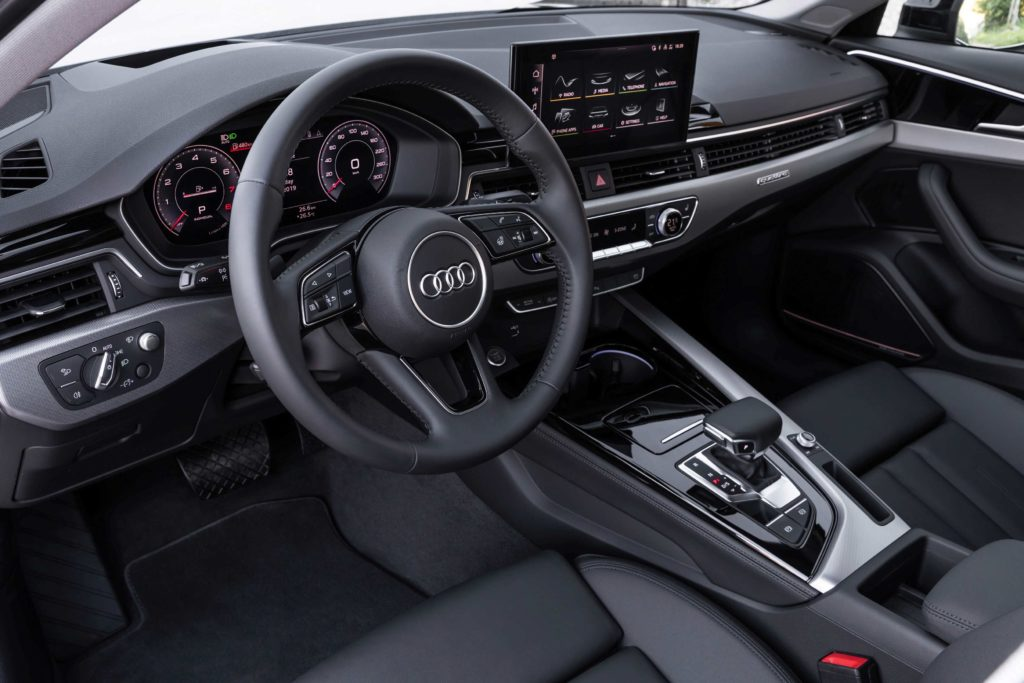 The interior of the latest 2020 Audi A4