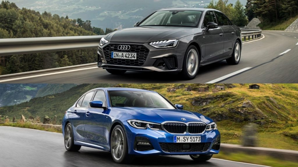 In this review we test the Audi A4 vs BMW 3 Series