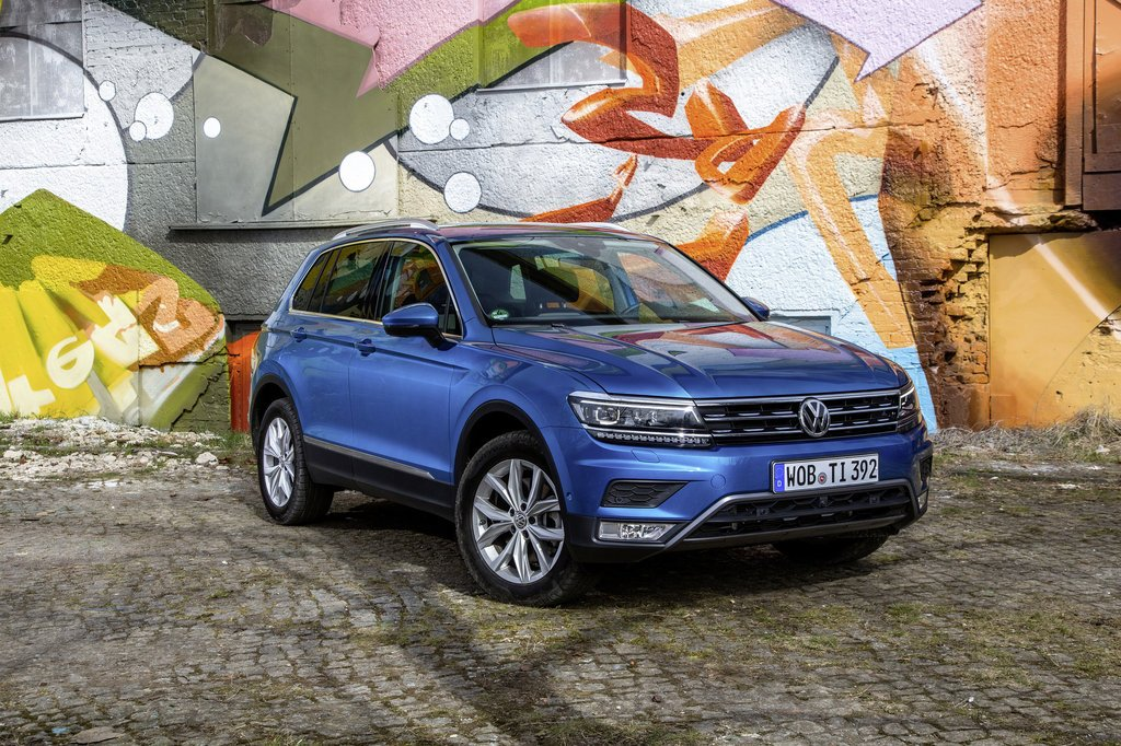 The Volkswagen Tiguan is more popular than the Golf in Ireland