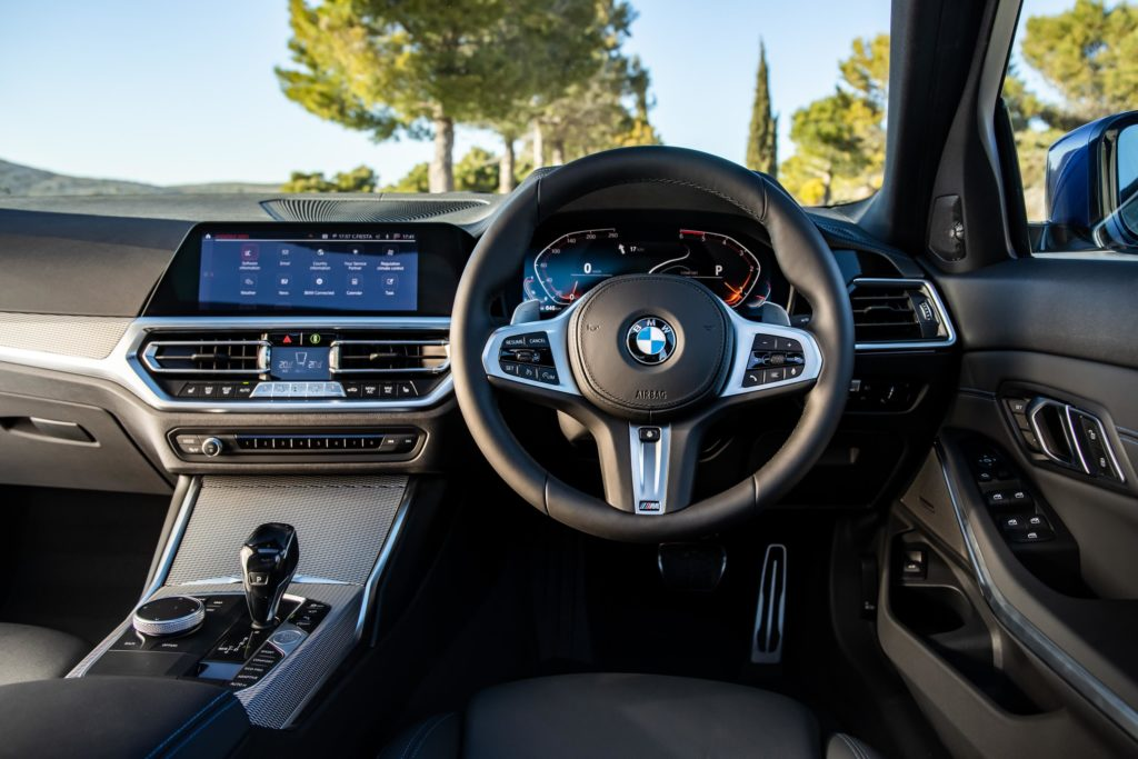 The interior of the 2020 BMW 3 Series