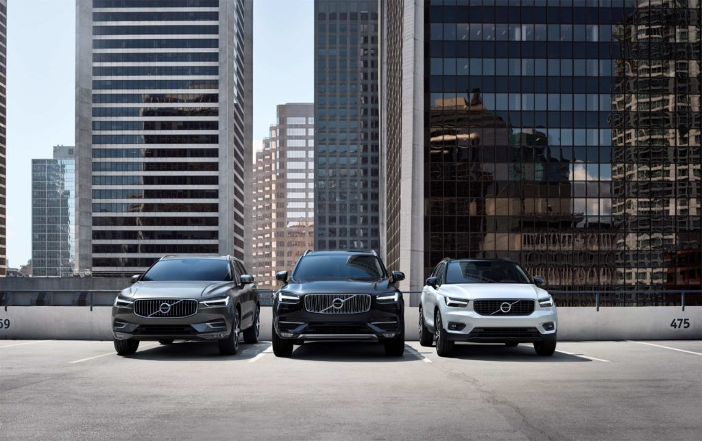 Volvo Cars' SUV line-up, now all available as plug-in hybrids
