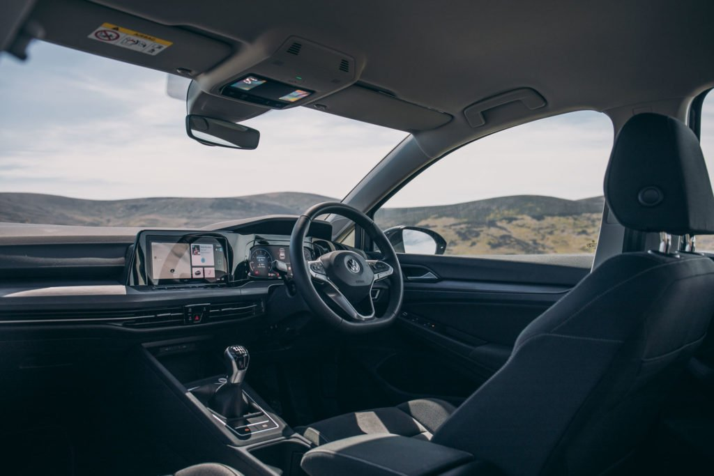 The interior of the new Golf