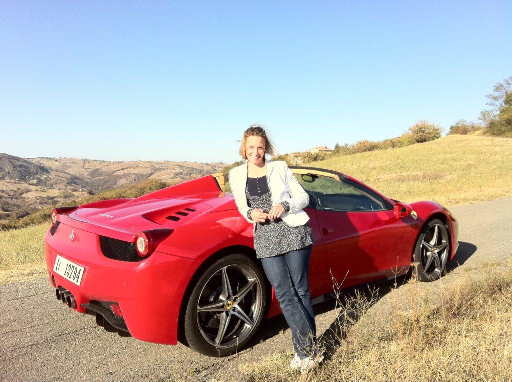 Vicki Butler-Henderson and the Ferrari 458 Spider